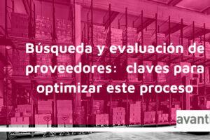 búsqueda y evaluación de proveedores