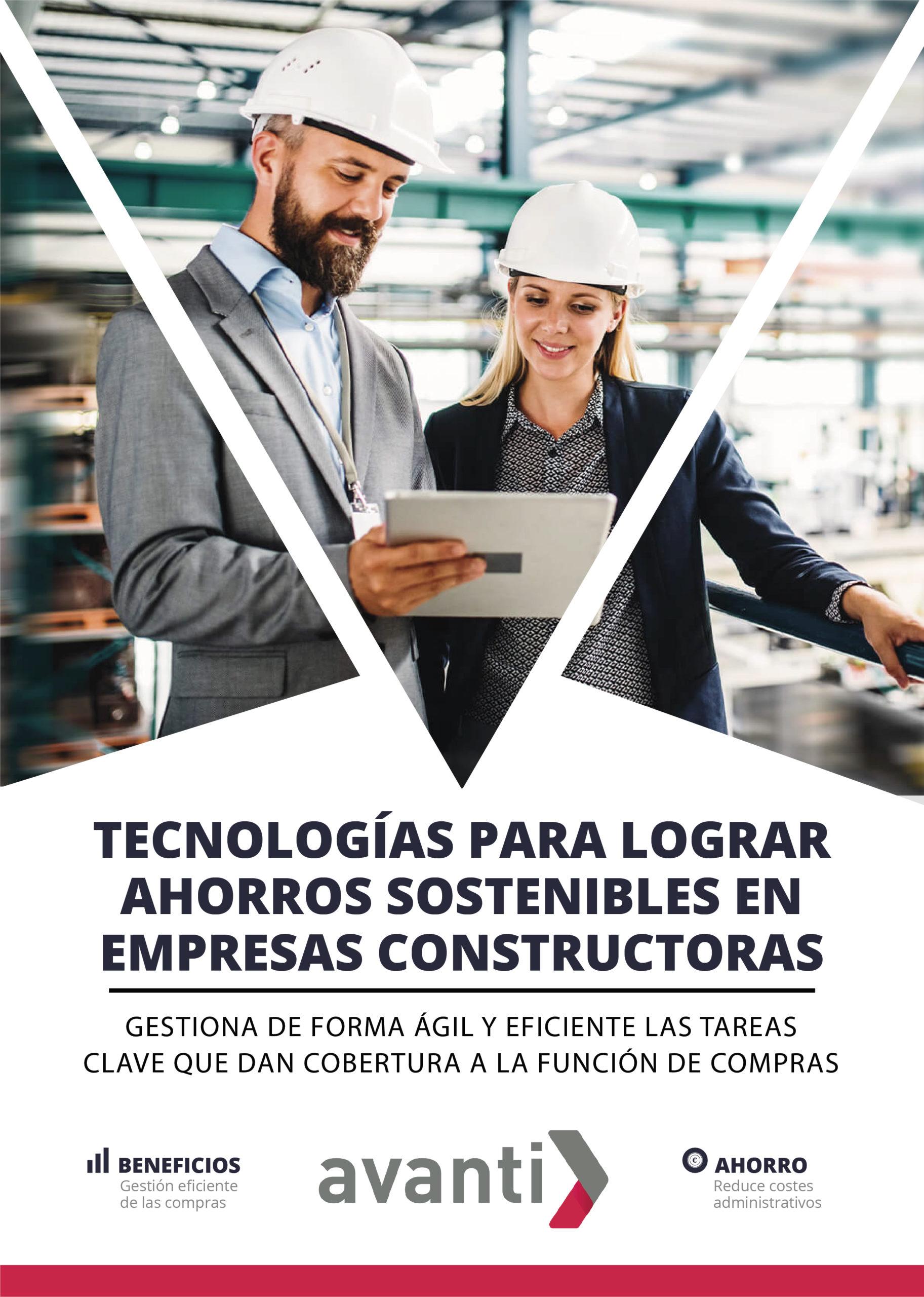 PORTADA EBOOK TECNOLOGIAS PARA LOGRAR AHORROS SOSTENIBLES EN EMPRESAS CONSTRUCTORAS