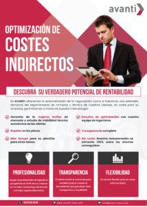 REDUCCIÓN COSTES INDIRECTOS AVANTI INFOGRAFÍA
